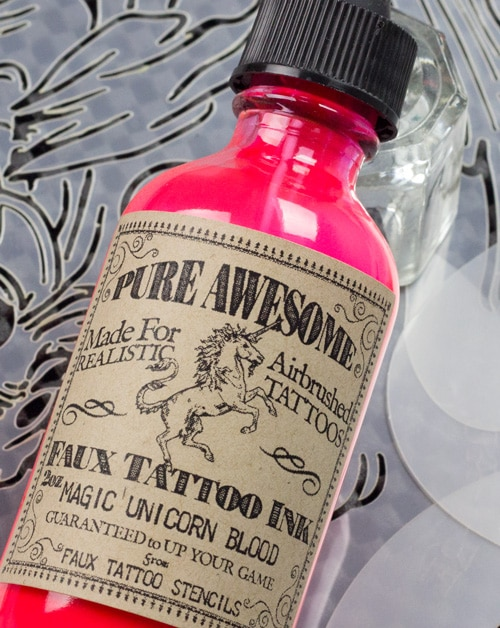 Magic Unicorn Blood Pure Awesome Airbrush Tattoo Ink