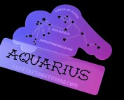 Aquarius Constellation Airbrush Tattoo Stencil Set