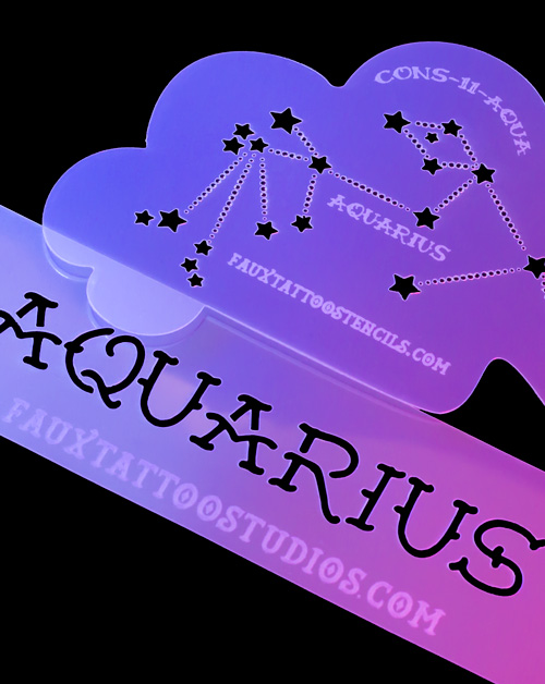 Aquarius Airbrush Tattoo Stencil Mini Set