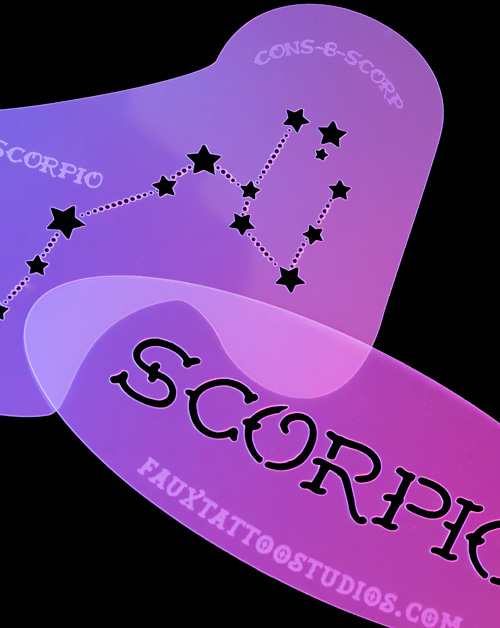 Scorpio Airbrush Tattoo Stencil Mini Set