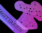 Sagittarius Constellation Airbrush Tattoo Stencil Set