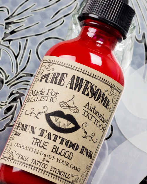 True Blood Pure Awesome Temporary Tattoo Ink