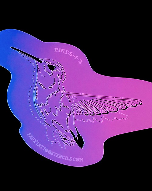 Hummingbird Number One Airbrush Tattoo Stencil