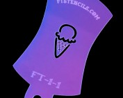 Tiny Ice Cream Cone Finger Tat Airbrush Tattoo Stencil