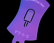Tiny Popsicle Finger Tat Airbrush Tattoo Stencil