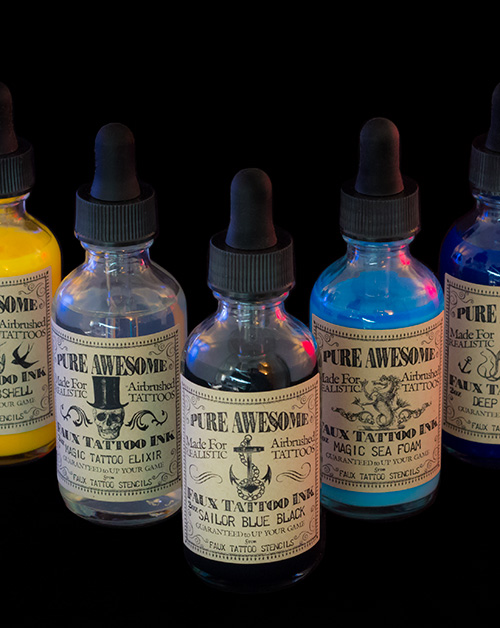 Pure Awesome Airbrush Tattoo Ink Set