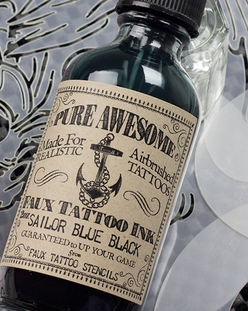 Sailor Blue-Black Pure Awesome Airbrush Tattoo Ink